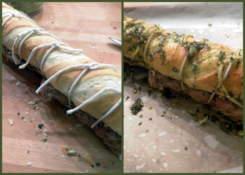 Tuscan pork sandwich-collage5