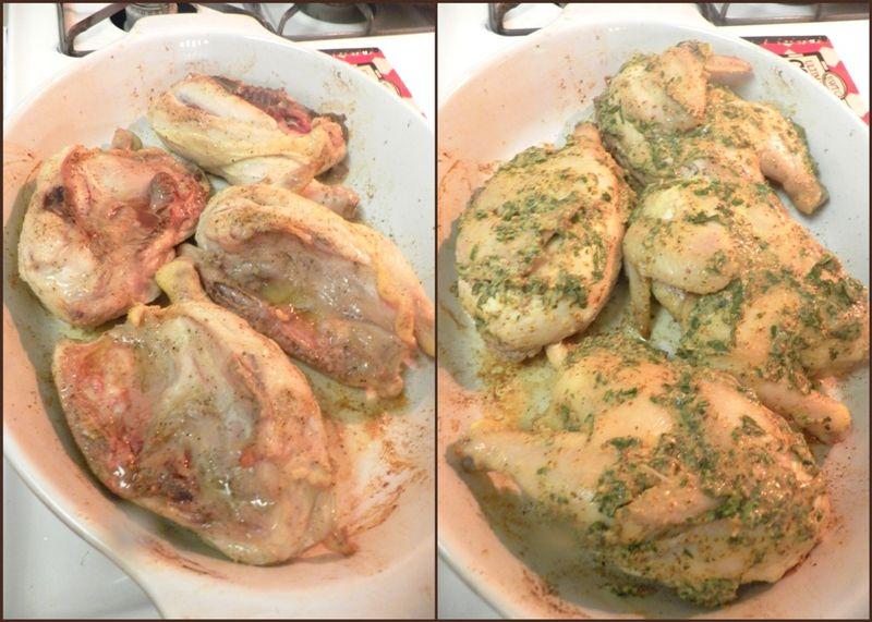Roasted Cornish hens-collage4