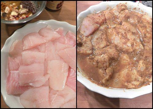 Goan fried fish Recheado-collage2