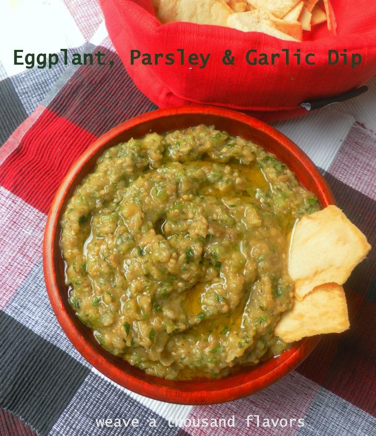 Eggplant, Parsley Garlic dip - 01