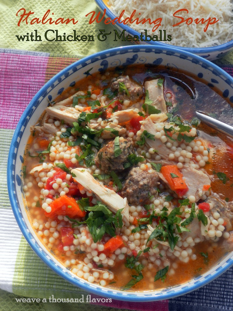 Delicious Italian Wedding Soup With Chicken Meatballs