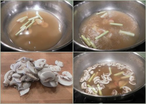 Thai chicken coconut soup-collage2